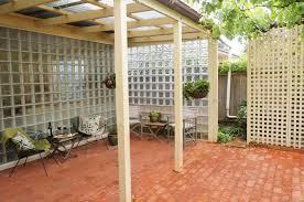glass block outdoor panel