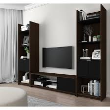 tv stand with storage. Brilliant With Bestar Small Space 3Piece TV Stand And 2 Storage Towers Set Throughout Tv With A