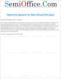 Welcome Address For New Principal Semiofficecom