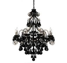 black crystal chandelier schonbek cappela 9 light black chandelier in chandeliers