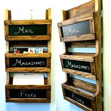 wall mounted mail organizers brokers wood