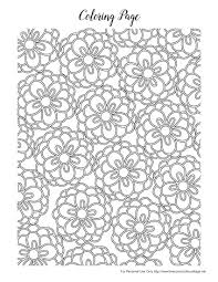 Spring Flowers Colouring Pages Printable Coloring Page For Kids