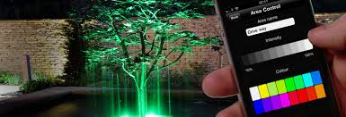 smart outdoor lighting. LED Colour Control And Dimming. Smart Outdoor Lighting H