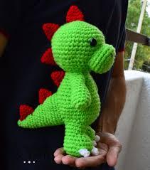 Free Crochet Dinosaur Pattern Simple Tim The Friendly Dinosaur Crochet Pattern By Michellealvarez On