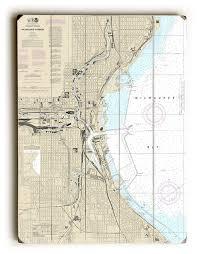Milwaukee Die Chart Wi Milwaukee Harbor Wi Nautical Chart Sign