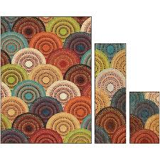 rug sets. better homes and gardens bright dotted circles multi 3-piece area rug set sets h