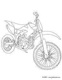 Coloriages Coloriage Moto Cross Gratuit Fr Hellokids Com