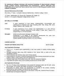6 Sample Java Developer Resume Templates To Download Sample Templates