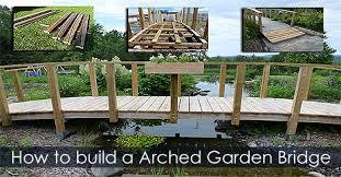 Small Picture Garden Bridge over Stream Handcrafted Garden Bridge Plan