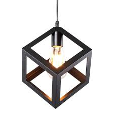 homiforce vintage style 1 light black mini pendant light with metal shade in matte black