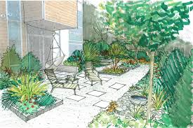 Small Picture Sketch of the Week South Seattle Garden