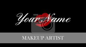 fototapete makeup artist business card business cards template with red trace kiss lips print