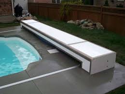 retractable pool cover. Retractable Pool Covers Automatic For Existing Pools Round Designs Above . Cover