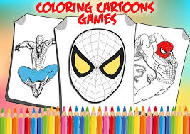 Spiderman motorcycle coloring pages, superheroes motorbike, bike coloring video for kids. How To Color Spider Man Coloring Game 4 Spiderman For Android Apk Download