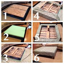 diy pallet coffee table ottoman for small living room ideas