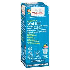 Wal Itin Dosage Chart Walgreens Wal Dryl Allergy Childrens Cherry Stockedupp