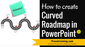 Road Map Powerpoint How To Create Curved Roadmap In Powerpoint Animated