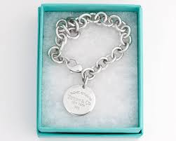 tiffany and co return to tiffany round tag sterling silver bracelet at 1stdibs