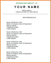Resume Reference Page Template Resume Reference Sheet Template Reference List Sample Nice Ideas 80
