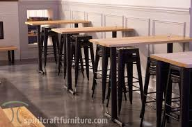 restaurant dining room design. Custom Made Solid Hardwood Restaurant Dining Tables And Tops In White Ash On Steel Bases. Room Design