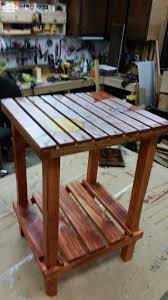 A Side Table Made from Pallet Wood Pallet Desks & Pallet Tables
