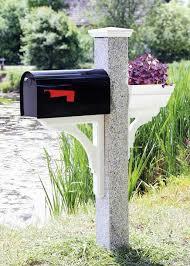 mailbox posts metal. Granite Mailbox Post Wood Cap Bracket Posts Metal