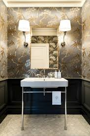 Powder Room Lighting a very blah powder room transforms into a jewel box laurel home 2139 by xevi.us