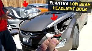 2012 Hyundai Elantra Running Light Bulb Hyundai Elantra Low Beam Headlight Bulb Replacement 2011 2012 2013 2014 2015 2016