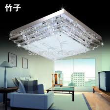 square chandeliers modern k9 crystal stair led