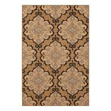 allen roth outdoor natural rectangular machine made area rug common 5 x