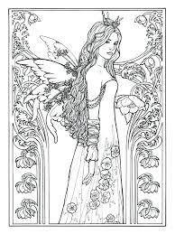 Detailed Fairy Coloring Pages Jordanschleiderinfo