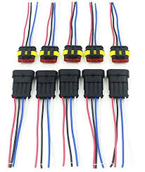 amazon com cnkf 10 sets 4 pin amp superseal car waterproof Auto Electrical Harness Connectors cnkf 10 sets 4 pin amp superseal car waterproof electrical connector plug with wire electrical connector