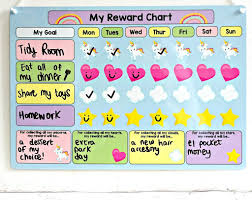 children rewards charts children s unicorn reward chart by craftly notonthehighstreet com