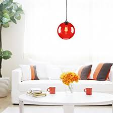 red pendant lighting. lightinthebox vintage glass pendant light in round red bubble design modern home ceiling fixture lighting