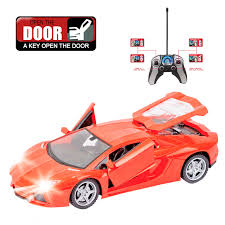 rc 1 18 flashing rc car 4ch rc drift model remote control drift cars rechargeable battery one key open door with radio control remote control specials