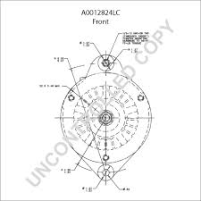alc alternator product details leece neville a0012824lc front dim drawing