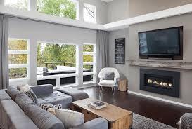 Modern gray living room
