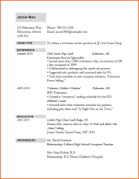 Resume Templates For Job Application Curriculum Vitae For Job