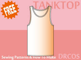 Tank Top Pattern Best Tanktop Sewing Patterns DRCOS Patterns How To Make