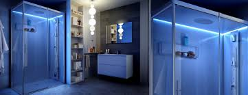 cubicle lighting. Glass Shower Cubicle / Rectangular With Hinged Door Lighting I