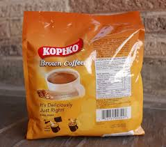 Brown iced coffee to enjoy at any time of the day. Kopiko Instant Coffee Brown Importfood
