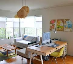 living room office. Living Room Office Combo With Wooden Furniture