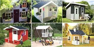 wooden playhouse kits diy kit