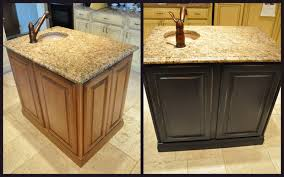 painted brown kitchen cabinets before and after. Wonderful Brown Painted Kitchen Island Reveal For Brown Cabinets Before And After R