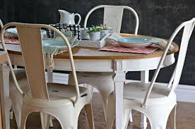 white metal furniture. Thrift Store Tabel And White Metal Kitchen Chairs Fancy Frugal LIfe Furniture