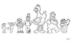 Surprising Sesame Street Characterss Colouring Pages Sheets