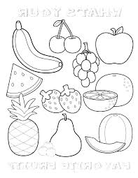 Coloring Page Fruit Free Printable Fruit Coloring Pages Apple Tree