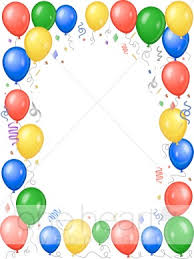 Party Borders For Invitations Bright Multicolored Party Balloons Party Borders