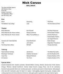 acting resume examples