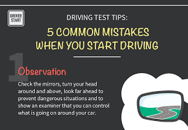 driving test tips 5 mon mistakes when you start driving driver start